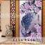 นกยูงม่วง ครอสติสคริสตัล Diamond painting ภาพติดเพชร DIY thumbnail 1