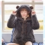 Pre-Order แจ๊คเก็ตฮู้ดหมีขนนุ่ม สีเทา บุผ้าฝ้ายด้านใน thumbnail 3