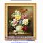 แจกันดอกไม้ ภาพติดเพชร ครอสติชคริสตรัล โมเสก Diamond painting thumbnail 2