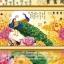 นกยูงคู่ดอกโบตั๋น ครอสติสคริสตรัล ภาพติดเพชร อุปกรณ์ DIY thumbnail 1
