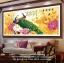 นกยูงคู่ดอกโบตั๋น ครอสติสคริสตรัล ภาพติดเพชร อุปกรณ์ DIY thumbnail 2