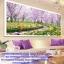 กวาง สวนดอกไม้ ภาพติดเพชร ครอสติชคริสตรัล โมเสก Diamond painting thumbnail 2
