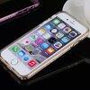 เคสยาง ขอบโลหะ ฝังเพชร - เคส iPhone 5/5S/SE