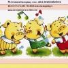 Happy Pig ครอสติชจีน พิมพ์ลาย ลดราคา
