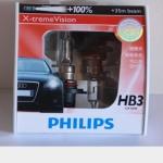 หลอดไฟอัพเกรด HB3 Philips X-tream Vision 100%