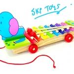 ของเล่นเสริมพัฒนาการ ของเล่นไม้ ระนาดล้อลากลายช้างน้อย