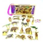 เเมกเน็ตในกล่องไม้ลายสัตว์ป่า