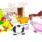 ของเล่นเสริมพัฒนาการ ของเล่นไม้ จิ๊กซอเเม่เหล็กสัตว์ในฟาร์ม 6 ชนิด 18 ชิ้นพร้อมกล่องไม้