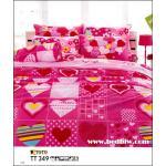 ผ้าปูที่นอนลายหัวใจ หวานแหวว ลายน่ารัก TT349