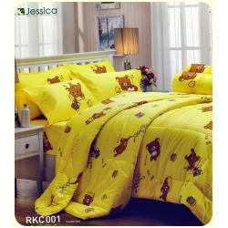 ชุดเครื่องนอน ผ้าปูที่นอน JESSICA ลายริลัคคุมะ ผ้าCotton100% RKC001