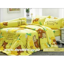 ชุดเครื่องนอน ผ้าปูที่นอนลายการ์ตูนมินเนี่ยน JESSICA Cotton 100% รหัส RKC005