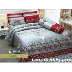 ชุดเครื่องนอน ผ้าปูที่นอน JESSICA Cotton 100% โอลาฟ FZC002
