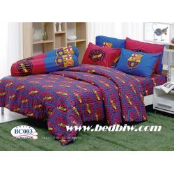 ชุดเครื่องนอน ผ้าปูที่นอน ลายทีมฟุตบอล ลายบาร์เซโลน่า รุ่น BC003