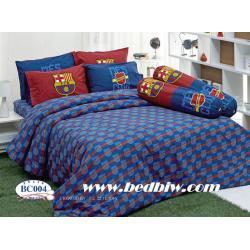 ชุดเครื่องนอน ผ้าปูที่นอน ลายทีมฟุตบอล ลายบาร์เซโลน่า รุ่น BC004