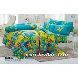 ชุดเครื่องนอน ผ้าปูที่นอน ลายไดโนเสาร์ รหัส SL005
