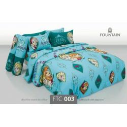 ชุดเครื่องนอน ผ้าปูที่นอน ราคาถูก ลายเจ้าหญิง FTC003
