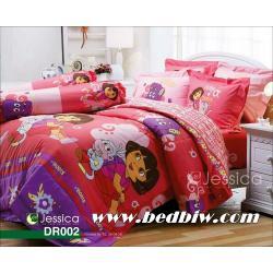 ชุดเครื่องนอน ผ้าปูที่นอน ลายดอร่า Dora รหัส DR002 ลายใหม่ล่าสุด