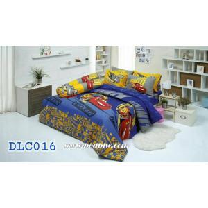 ชุดเครื่องนอน ผ้าปูที่นอนทิวลิป ลายการ์ตูนรถแข่ง - CAR รหัส DLC016