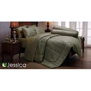 ชุดเครื่องนอน JESSICA เนื้อผ้า Cotton 100% สีพื้นเทา Stripe Stone Gray