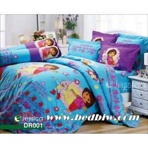 ชุดเครื่องนอน ผ้าปูที่นอน ลายดอร่า Dora รหัส DR001 ลายใหม่ล่าสุด
