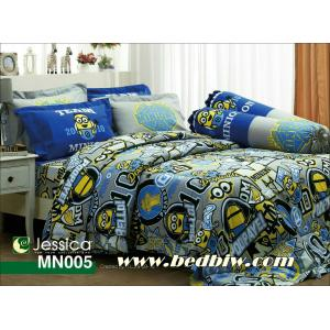 ชุดเครื่องนอน ผ้าปูที่นอน Jessica ลายการ์ตูน มินเนี่ยน รหัส MN005