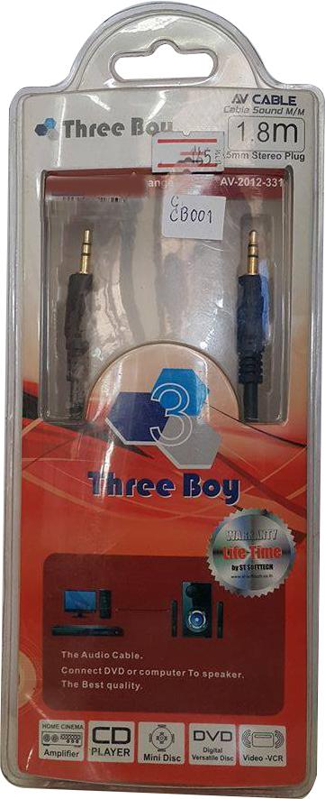 สายเสียง ยี่ห้อ Three Boy ยาว 1.8 ม.
