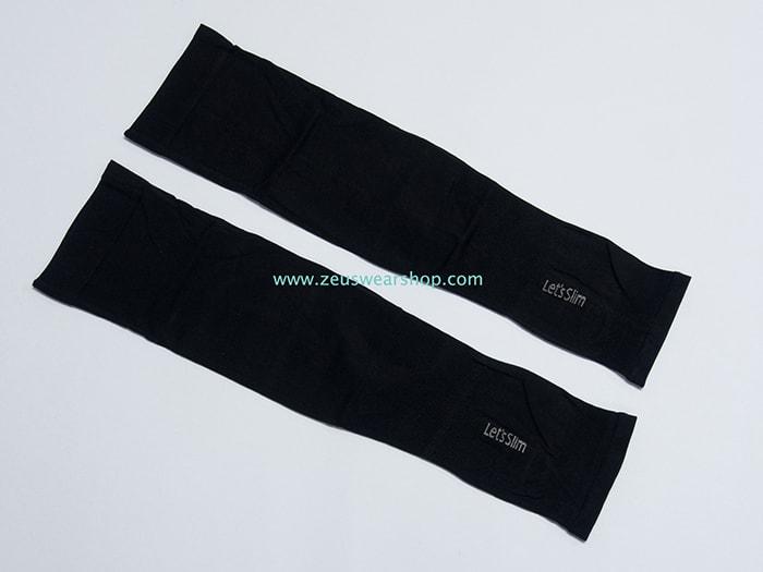 ปลอกแขนกันแดด AQUA X สีดำ แบบสอดนิ้ว ปลอกแขนกันUV