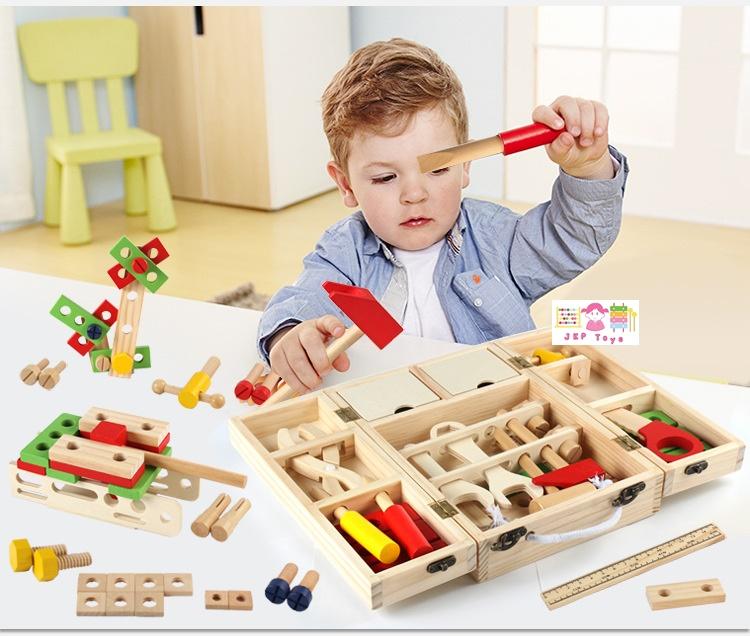 ของเล่นไม้เสริมพัฒนาการ กล่องไม้เครื่องมือช่าง