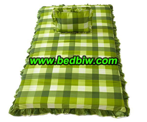 ที่นอนปิคนิค ลายสก๊อต สีเขียวใบตองสวยมาก TT032