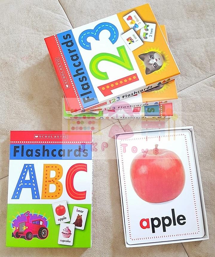 เซตการ์ดคำศัพท์ ตัวอักษร ตัวเลข ขนาดใหญ่ (11.5x17.5ซม) Wipe-Clean Flashcard (Scholastic)