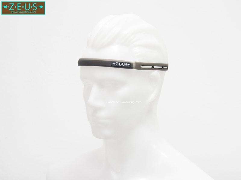 สายซิลิโคนคาดหัวกันเหงื่อเข้าตา สีดำ ZEUS Silicone Sweatband