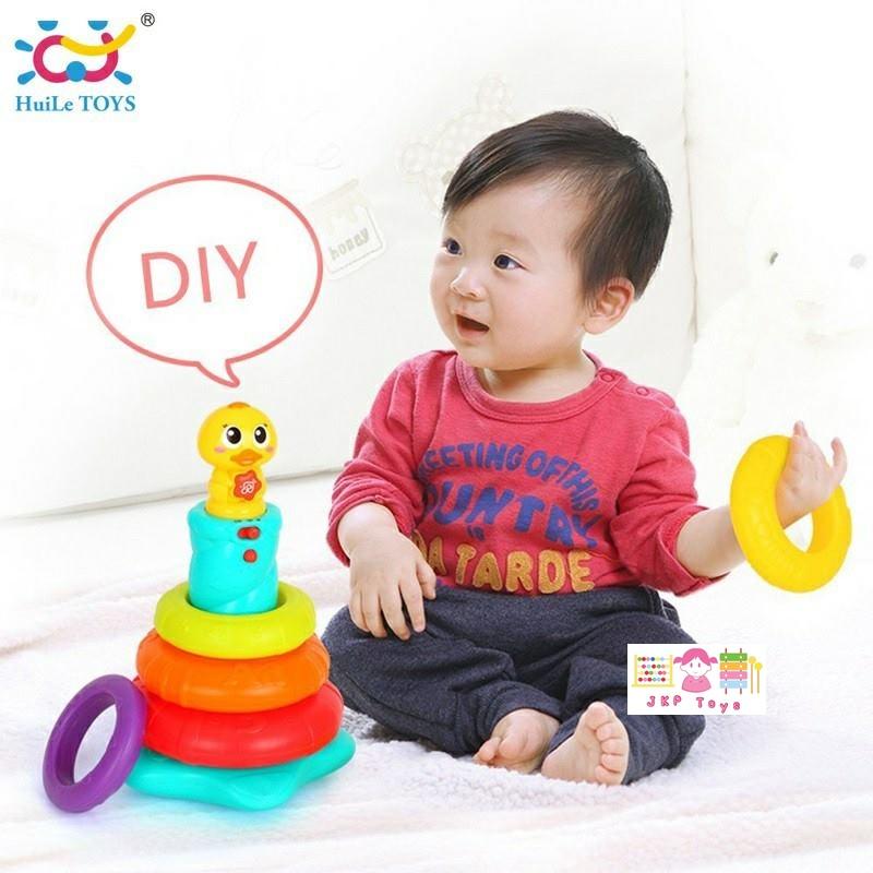 Huile Toys Stacking Rainbow Duck ห่วงเรียงซ้อนลูกเป็ดน้อย