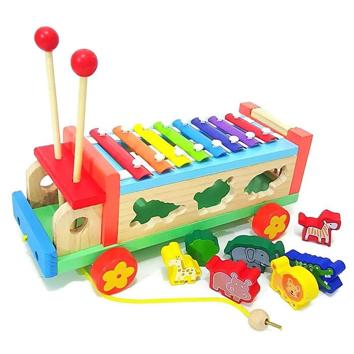 ของเล่นเสริมพัฒนาการ ของเล่นไม้ ของเล่น รถระนาด บล็อดหยอด รถลาก