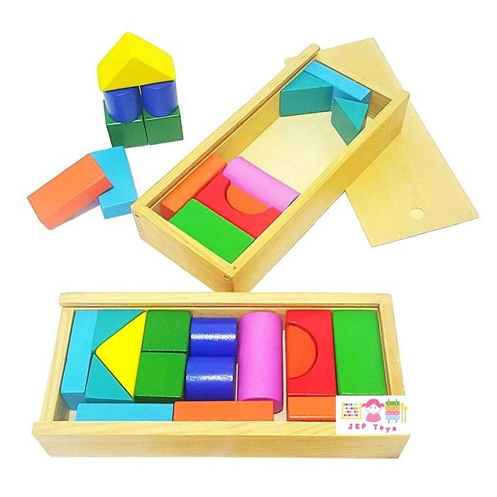 ของเล่นบล็อกไม้กระตุ้นพัฒนาการด้านความคิด