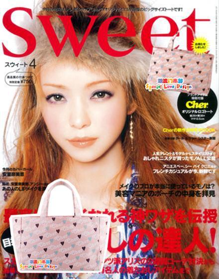 กระเป๋าผ้าแคนวาสพิมพ์ลายตัวอักษร ของแถมจากนิตยสาร Sweet