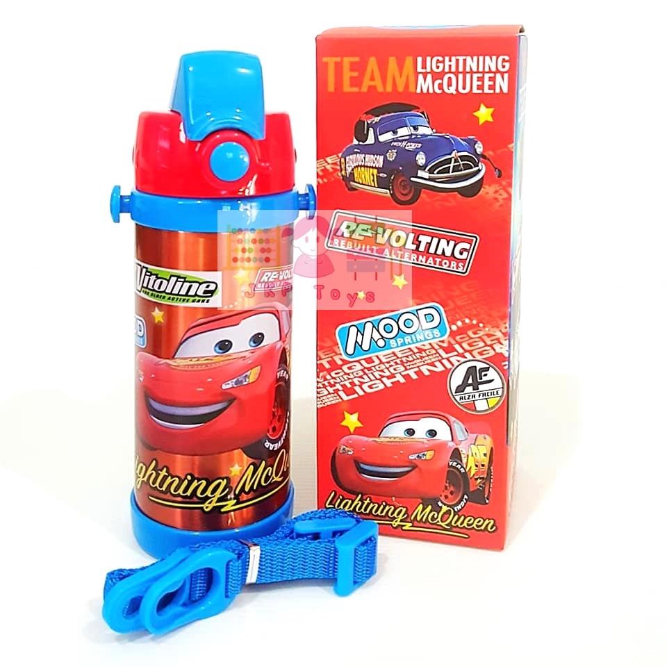 กระติกน้ำสแตนเลสเก็บความร้อน ความเย็น กระติกน้ำสำหรับเด็ก Cars