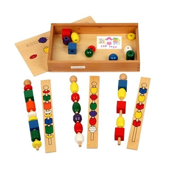 ชุดลูกปัดสอนเรียงลำดับ สี รูปทรง ฝึกความจำ