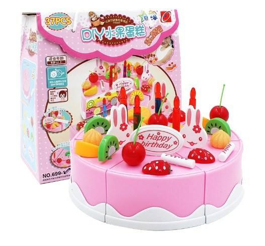 DIY Fruit Cake ชุดตกแต่งเค้กและหั่นเค้ก 37 ชิ้น