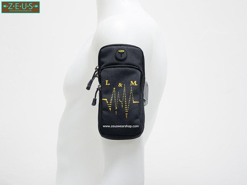กระเป๋ารัดแขนวิ่ง สีดำ Armband 2ซิป ใส่โทรศัพท์ได้ทุกรุ่น