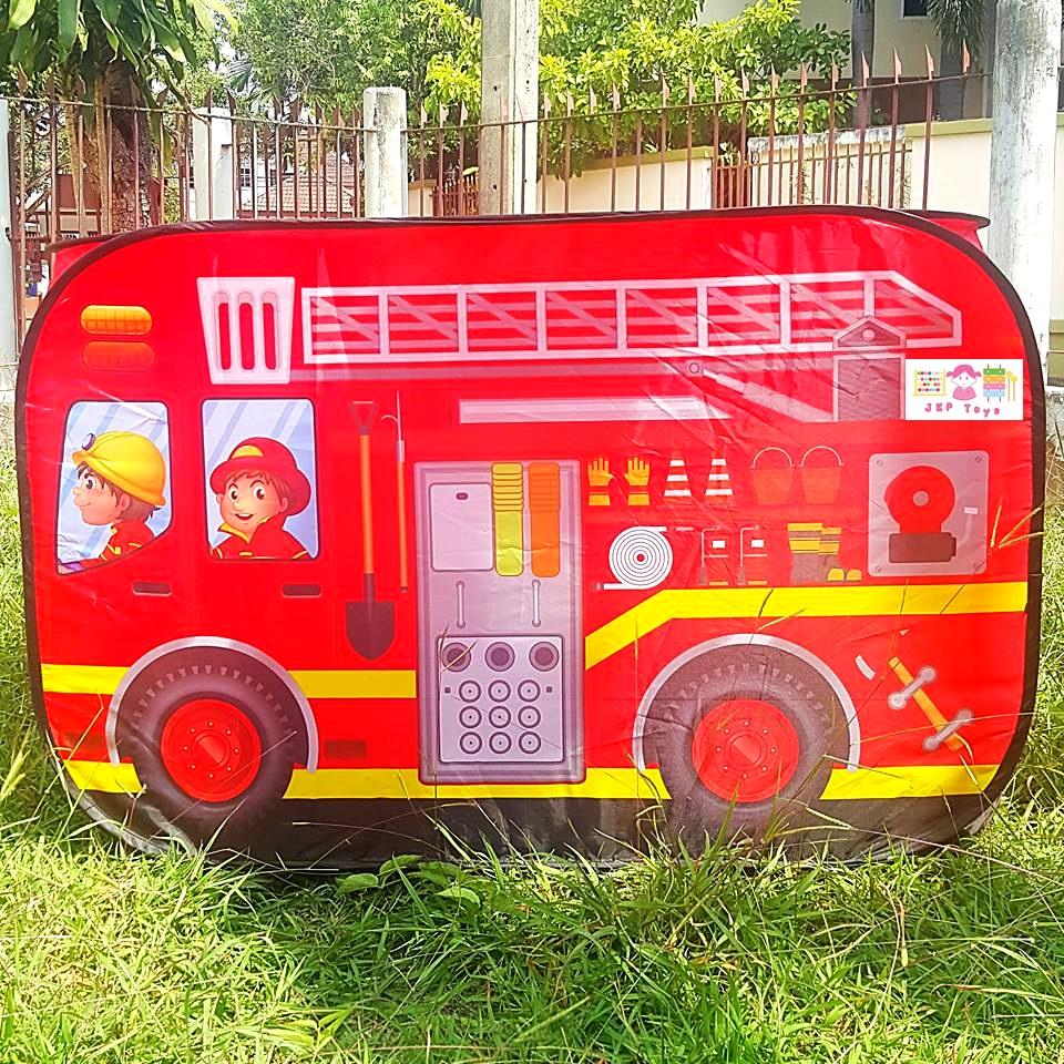 ใหม่! เต้นท์บ้านบอล รุ่นรถดับเพลิง