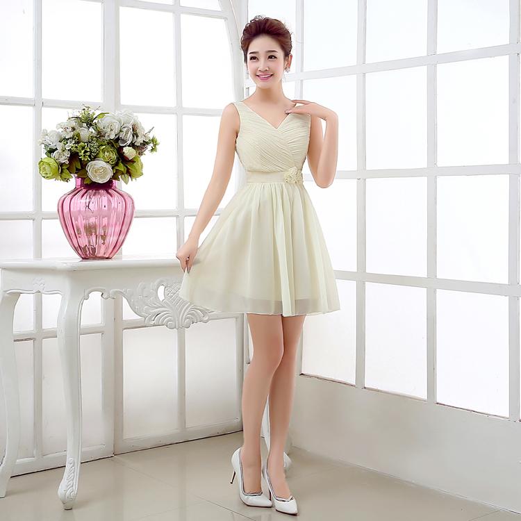 ชุดเดรสออกงานเกาหลีสีขาวอมเขียวราคาถูก