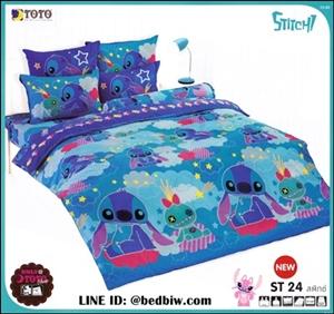 ชุดเครื่องนอน-ชุดผ้าปูที่นอนลายการ์ตูนสติช ST24