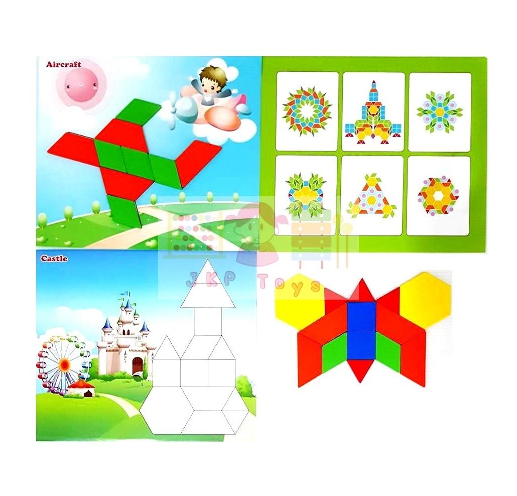 ของเล่นไม้เสริมพัฒนาการตัวต่อ tangram 250 ชิ้น