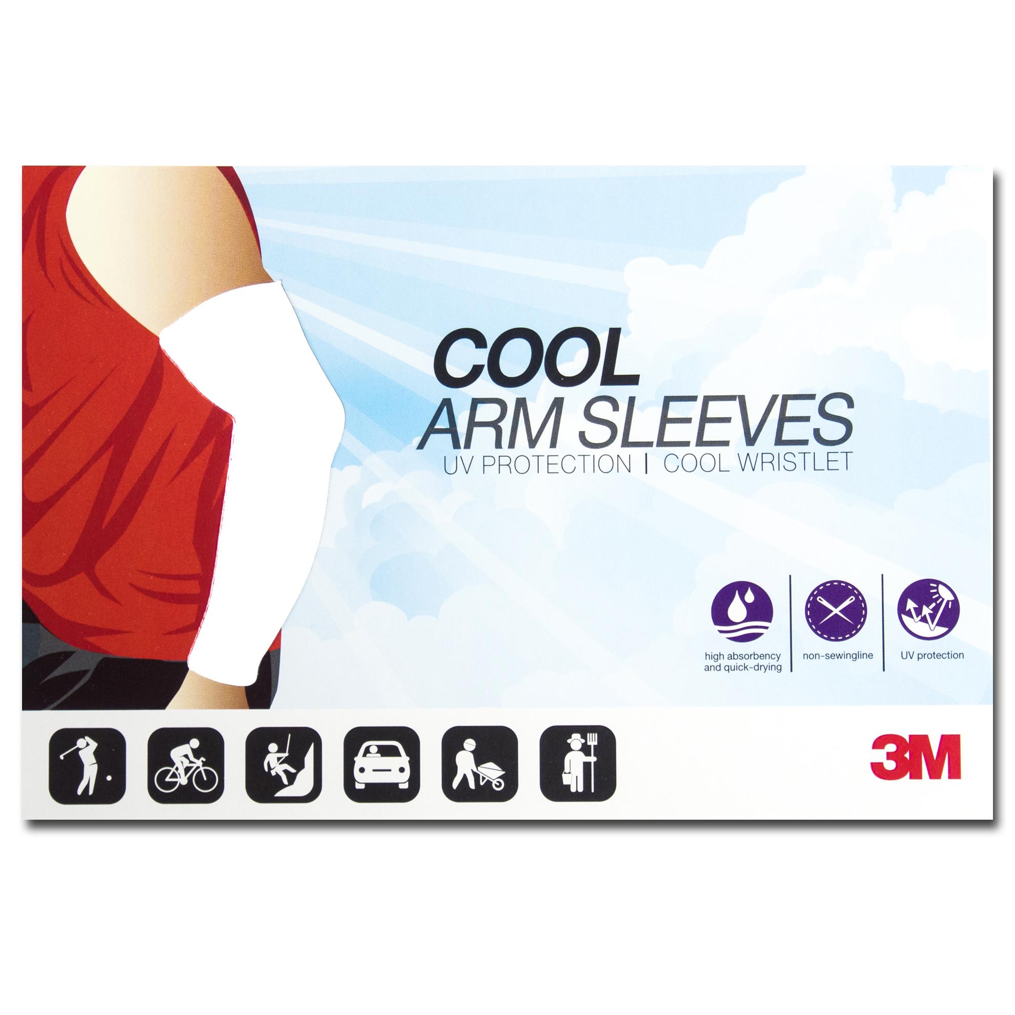 ปลอกแขนกันแดด 3M สีขาว ปลอกแขนกัน UV 99% 3M แท้ Made in Korea
