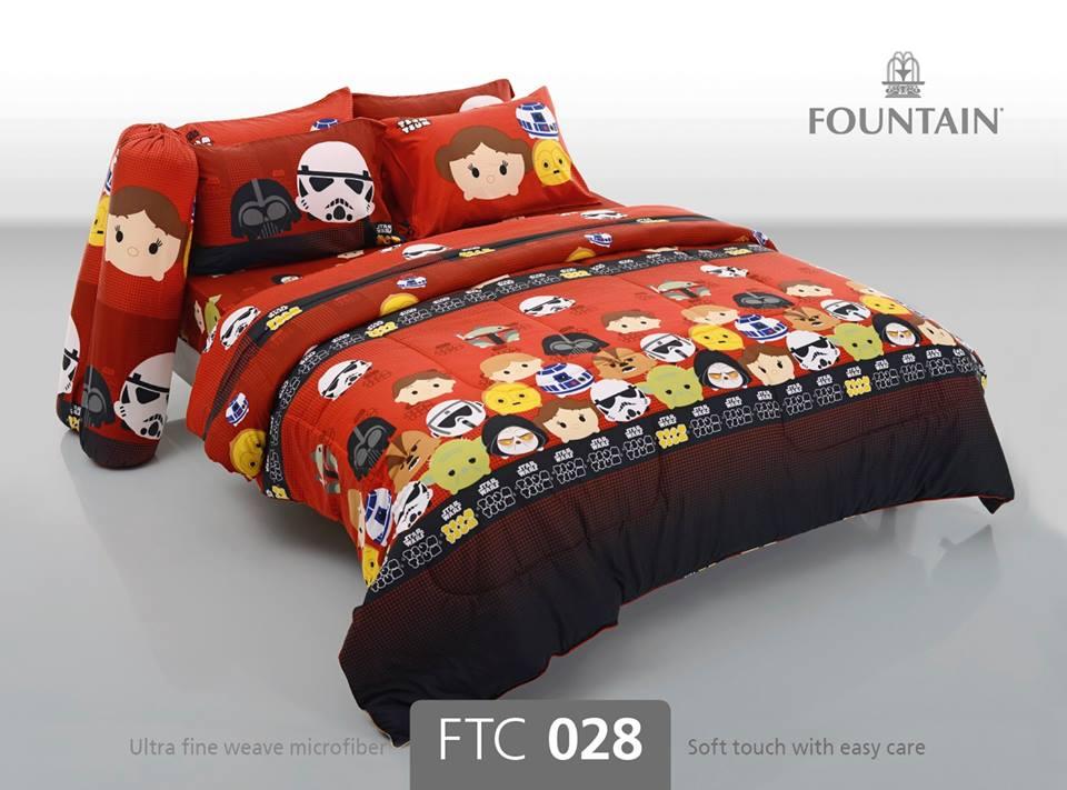 ชุดเครื่องนอน ผ้าปูที่นอน ลายสตาร์วอร์ FTC028