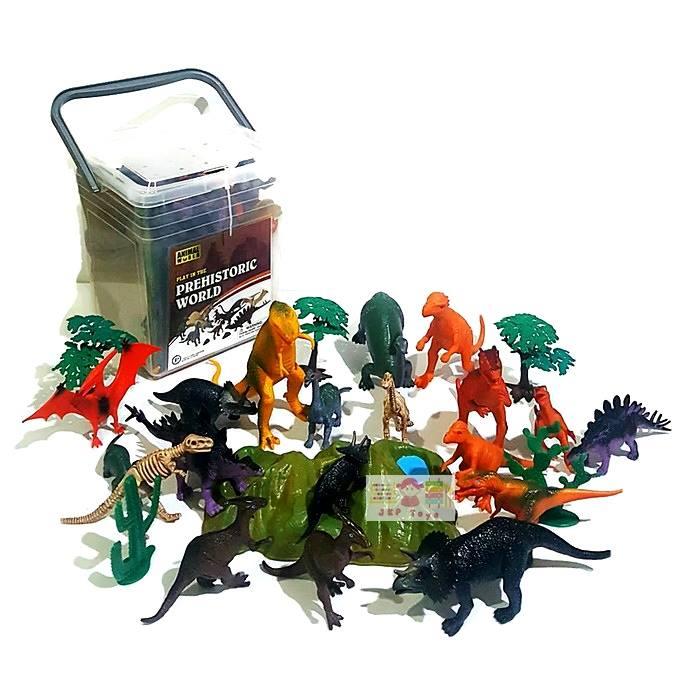 โมเดลพลาสติกเกรดดี ลายไดโนเสาร์ จำนวน 25 ชิ้น
