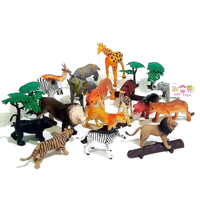 โมเดลพลาสติกเกรดดี ลายสัตว์ป่า จำนวน 25 ชิ้น