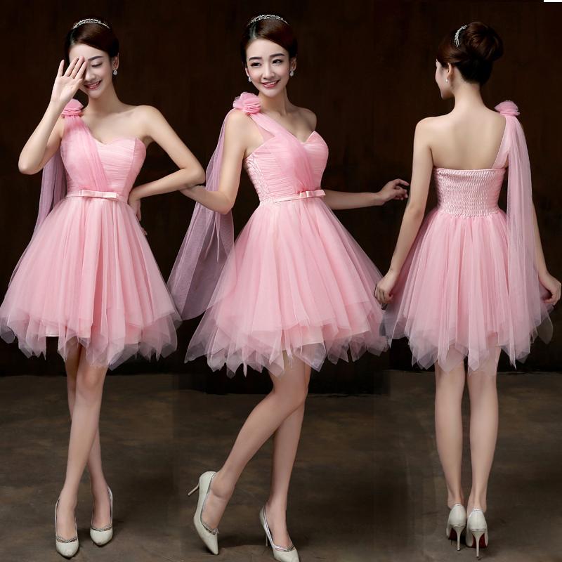 รับตัวแทนจำหน่ายชุดเดรสออกงานสีชมพูสไบปาดไหล่น่ารักสุดๆ