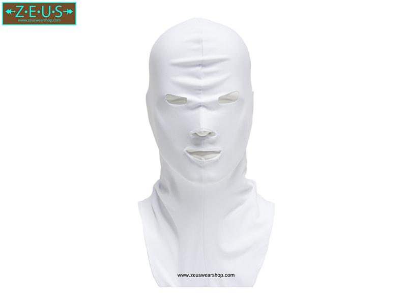 โม่งคลุมหัว สีขาว แบบปิดทั้งหน้า ป้องกันแดด ป้องกันรังสี UV