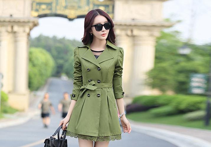 เสื้อคลุมสไตล์เกาหลีสีเขียวสวยๆราคาถูก